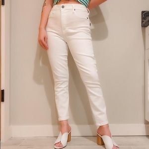 High End White Parker Smith Jeans.